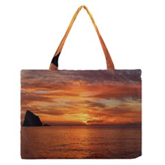 Sunset Sea Afterglow Boot Medium Zipper Tote Bag