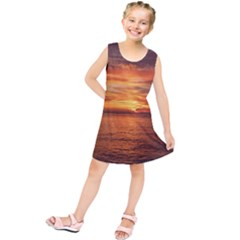 Sunset Sea Afterglow Boot Kids  Tunic Dress