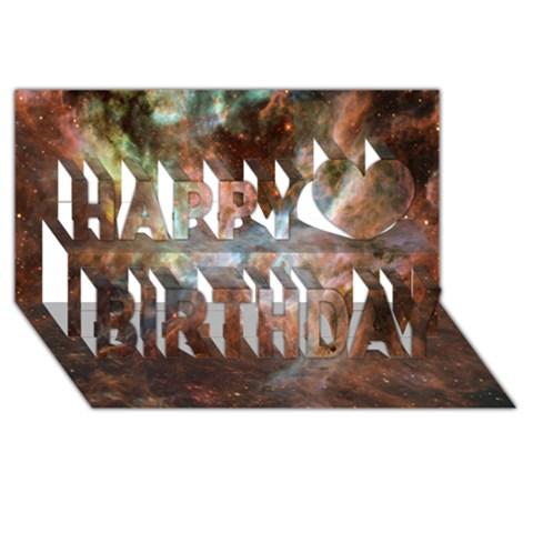 Tarantula Nebula Central Portion Happy Birthday 3D Greeting Card (8x4)