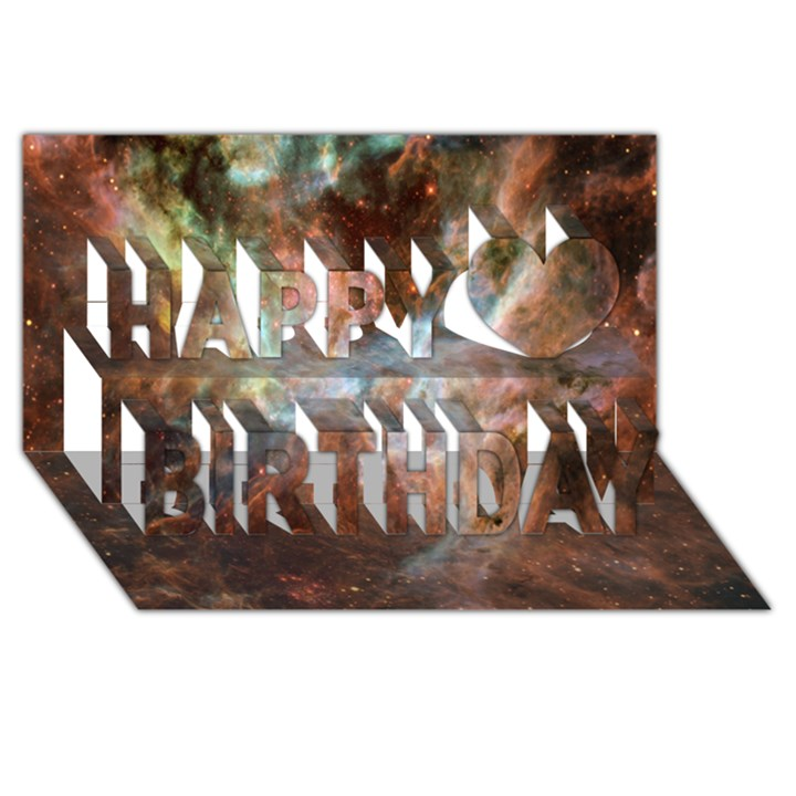 Tarantula Nebula Central Portion Happy Birthday 3D Greeting Card (8x4)