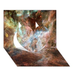 Tarantula Nebula Central Portion Heart 3D Greeting Card (7x5)