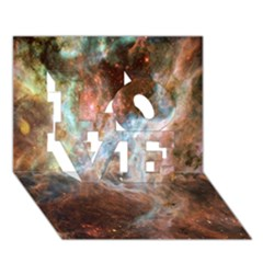 Tarantula Nebula Central Portion LOVE 3D Greeting Card (7x5)