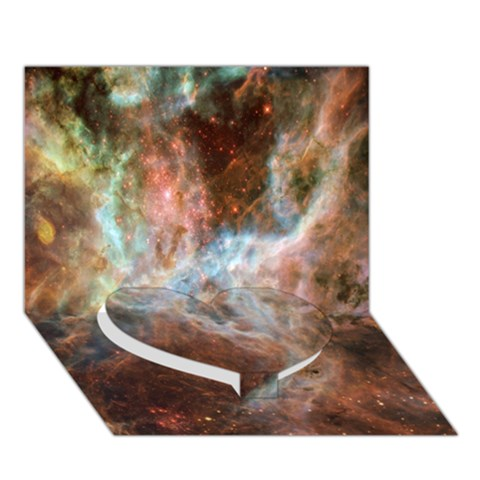 Tarantula Nebula Central Portion Heart Bottom 3D Greeting Card (7x5)