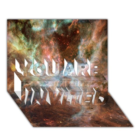 Tarantula Nebula Central Portion YOU ARE INVITED 3D Greeting Card (7x5)