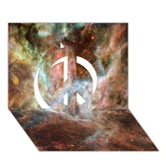 Tarantula Nebula Central Portion Peace Sign 3D Greeting Card (7x5)