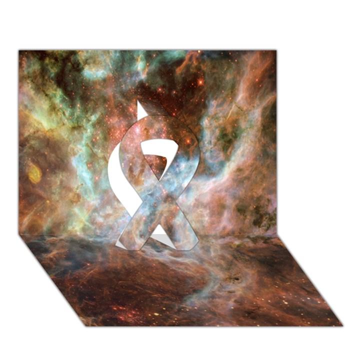 Tarantula Nebula Central Portion Ribbon 3D Greeting Card (7x5)