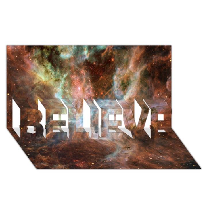 Tarantula Nebula Central Portion BELIEVE 3D Greeting Card (8x4)