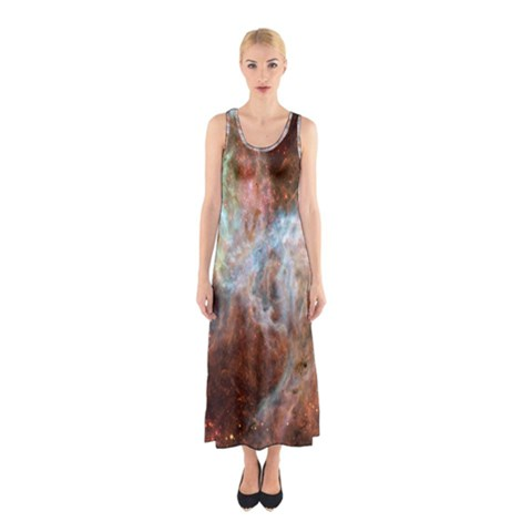 Tarantula Nebula Central Portion Sleeveless Maxi Dress