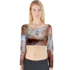 Tarantula Nebula Central Portion Long Sleeve Crop Top