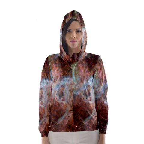 Tarantula Nebula Central Portion Hooded Wind Breaker (Women)
