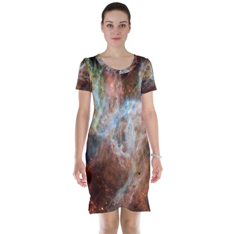 Tarantula Nebula Central Portion Short Sleeve Nightdress
