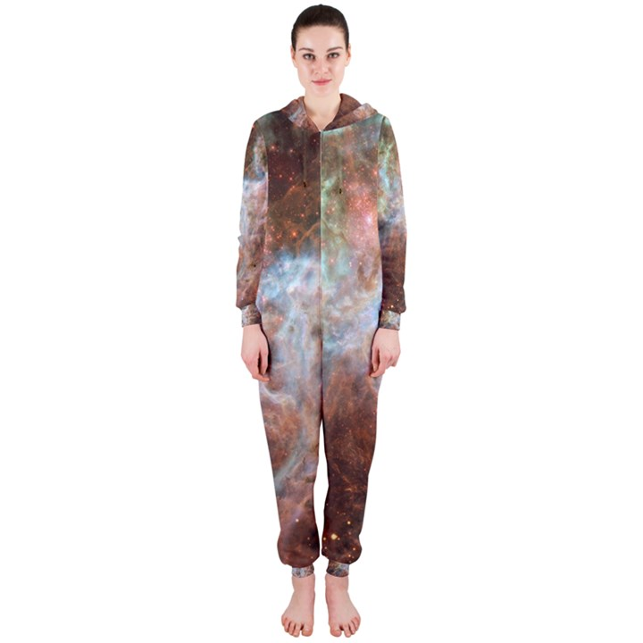 Tarantula Nebula Central Portion Hooded Jumpsuit (Ladies)