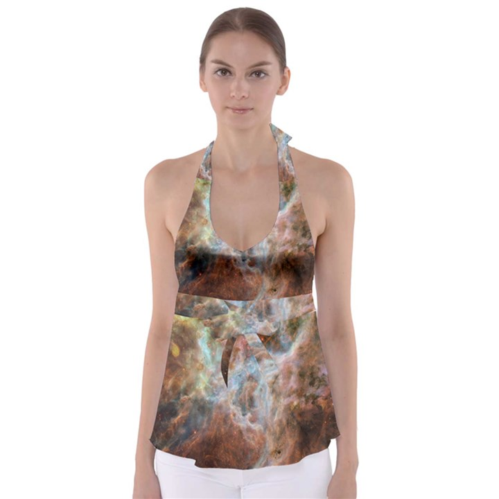 Tarantula Nebula Central Portion Babydoll Tankini Top
