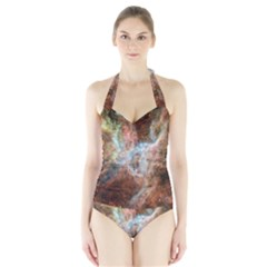 Tarantula Nebula Central Portion Halter Swimsuit