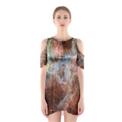 Tarantula Nebula Central Portion Cutout Shoulder Dress