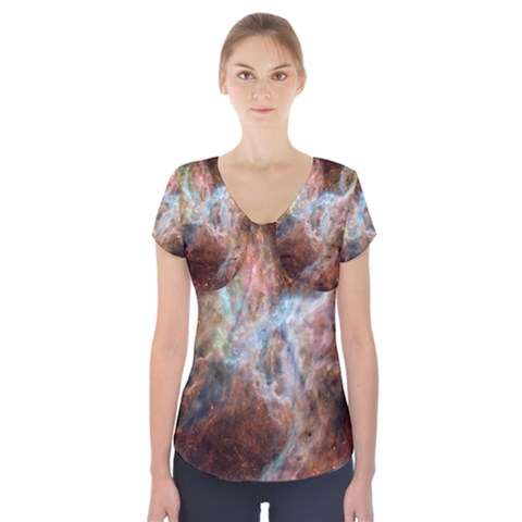 Tarantula Nebula Central Portion Short Sleeve Front Detail Top