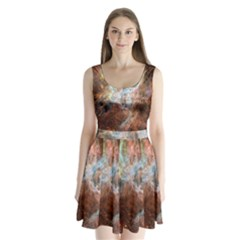 Tarantula Nebula Central Portion Split Back Mini Dress