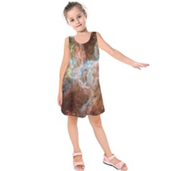 Tarantula Nebula Central Portion Kids  Sleeveless Dress