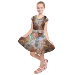 Tarantula Nebula Central Portion Kids  Short Sleeve Dress