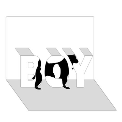 Akita Silo2 BOY 3D Greeting Card (7x5)