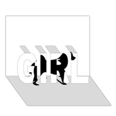 Akita Silo2 GIRL 3D Greeting Card (7x5)