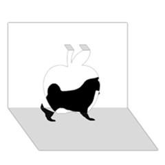 Akita Silo2 Apple 3D Greeting Card (7x5)