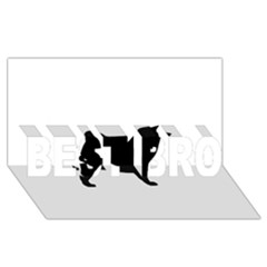 Akita Silo2 BEST BRO 3D Greeting Card (8x4)
