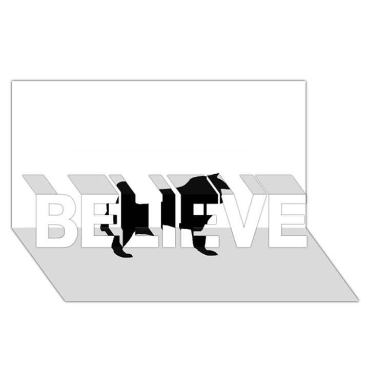 Akita Silo2 BELIEVE 3D Greeting Card (8x4)