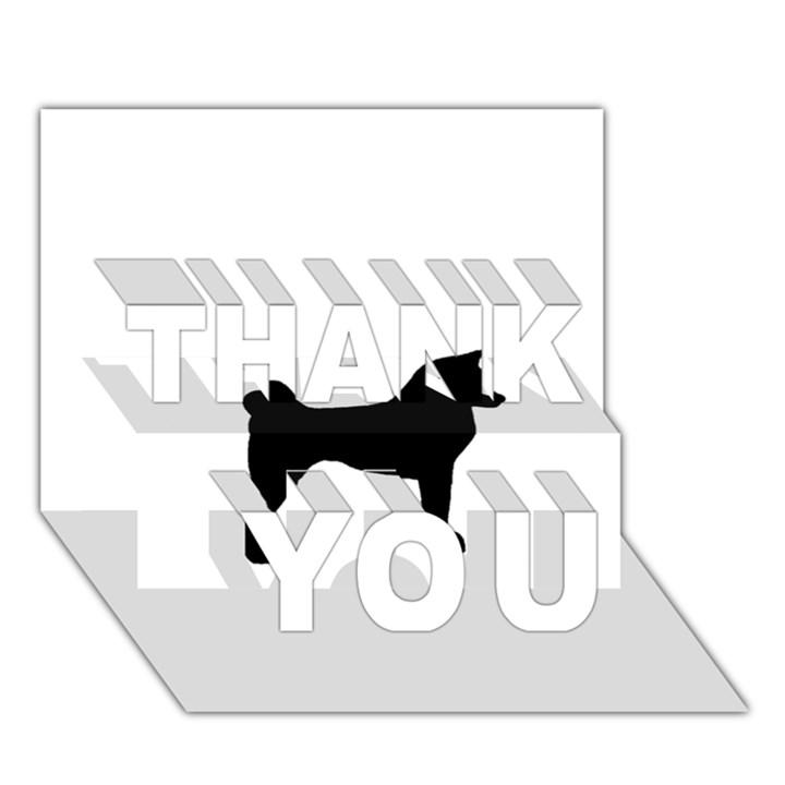 Akita Silo2 THANK YOU 3D Greeting Card (7x5)