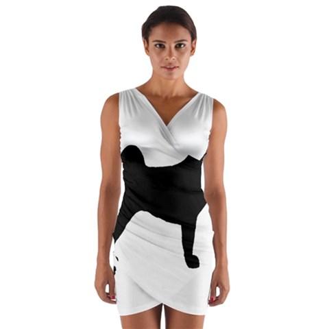 Akita Silo2 Wrap Front Bodycon Dress