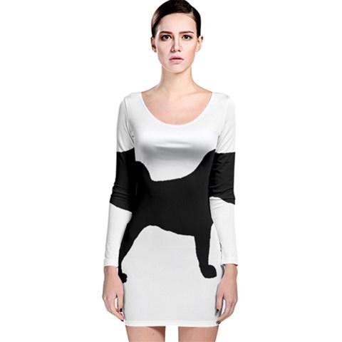 Akita Silo2 Long Sleeve Velvet Bodycon Dress