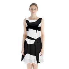 Akita Silo2 Sleeveless Chiffon Waist Tie Dress