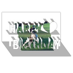 English Springer Catching Ball Happy Birthday 3d Greeting Card (8x4)