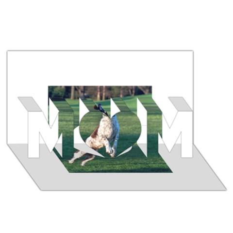 English Springer Catching Ball MOM 3D Greeting Card (8x4)