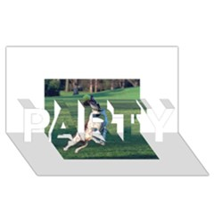 English Springer Catching Ball PARTY 3D Greeting Card (8x4)
