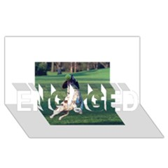 English Springer Catching Ball Engaged 3d Greeting Card (8x4)
