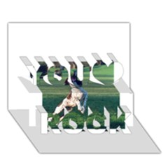 English Springer Catching Ball You Rock 3d Greeting Card (7x5)