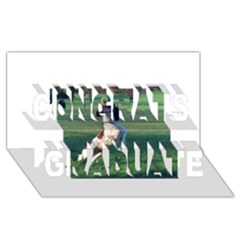 English Springer Catching Ball Congrats Graduate 3D Greeting Card (8x4)