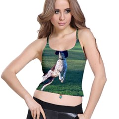 English Springer Catching Ball Spaghetti Strap Bra Top