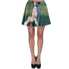 English Springer Catching Ball Skater Skirt