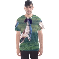 English Springer Catching Ball Men s Sport Mesh Tee