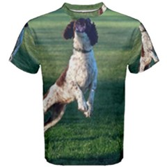 English Springer Catching Ball Men s Cotton Tee