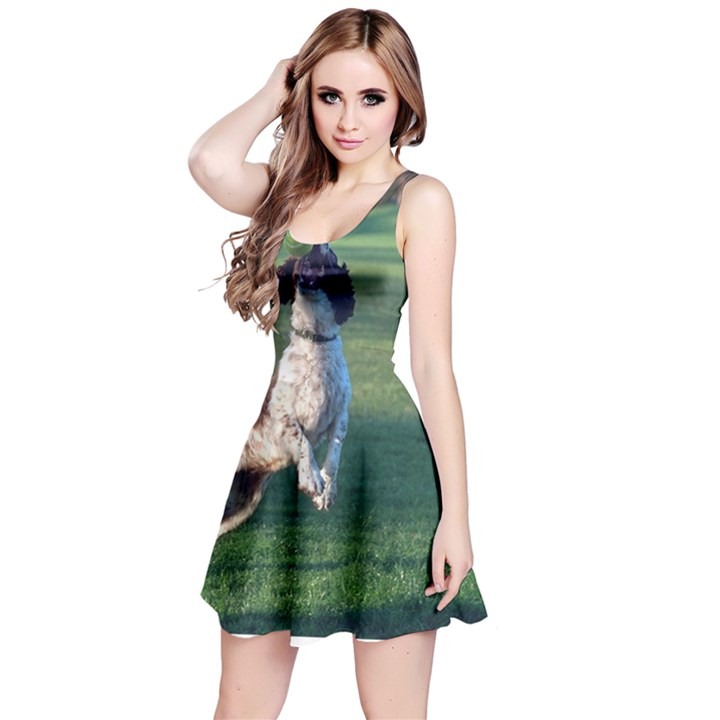 English Springer Catching Ball Reversible Sleeveless Dress