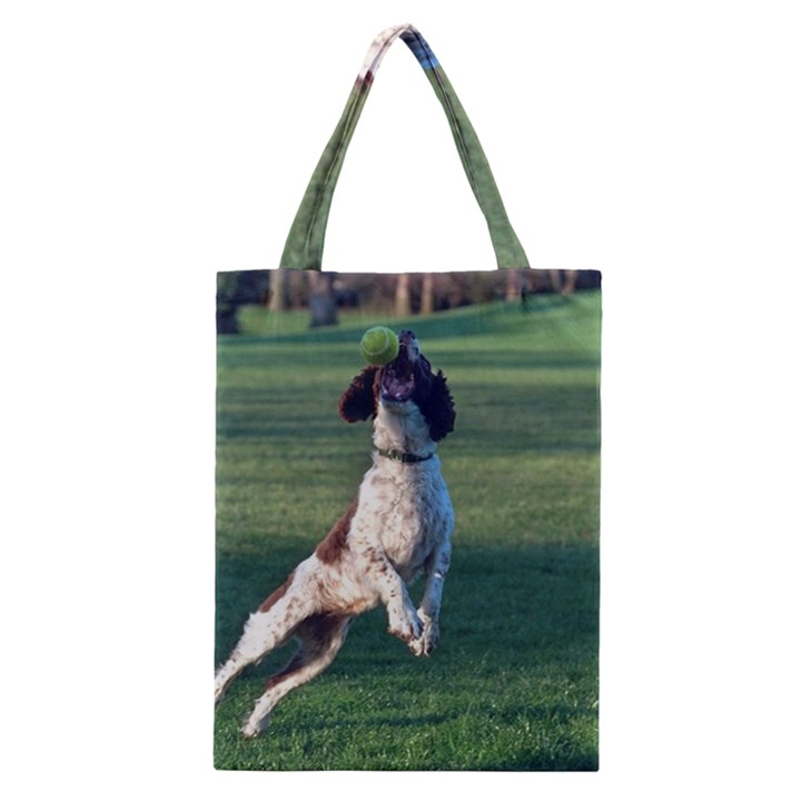 English Springer Catching Ball Classic Tote Bag