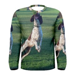 English Springer Catching Ball Men s Long Sleeve Tee