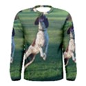 English Springer Catching Ball Men s Long Sleeve Tee View1