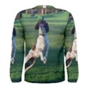 English Springer Catching Ball Men s Long Sleeve Tee View2