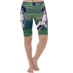 English Springer Catching Ball Cropped Leggings