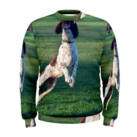 English Springer Catching Ball Men s Sweatshirt
