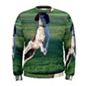 English Springer Catching Ball Men s Sweatshirt View1